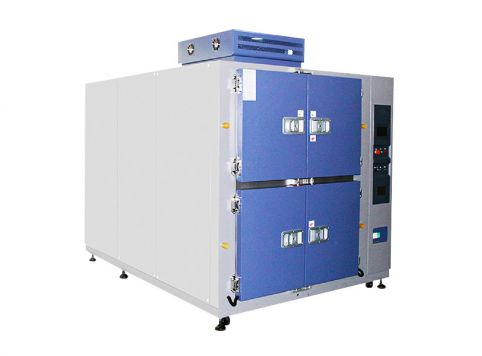 Large two-slot thermal shock test chamber